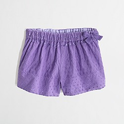 Factory girls' eyelet short