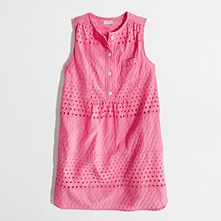 Factory girls' sleeveless shirtdress