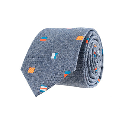 Boys' nautical flag chambray tie