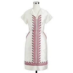 Collection embroidered dolman dress