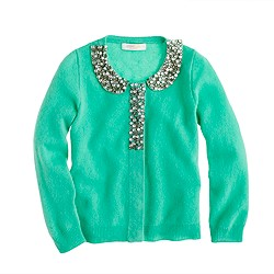 Girls' Collection glitz-collar cashmere cardigan