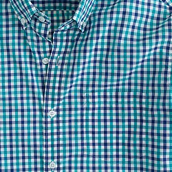 Slim lightweight shirt in Havana blue check