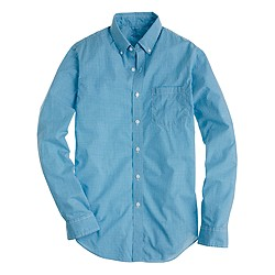 Tall lightweight shirt in bright surf gingham