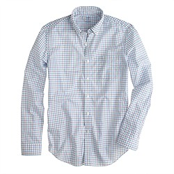 Slim lightweight shirt in purple check
