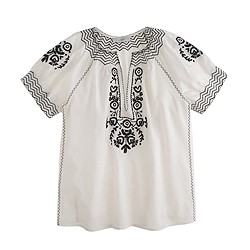 Pre-order Baja embroidered top