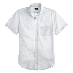 Short-sleeve seersucker shirt