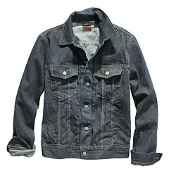 Denim jacket in medium worn wash