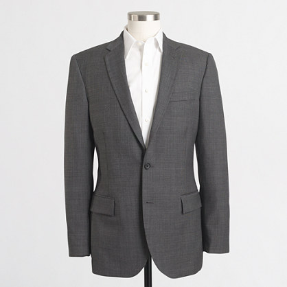 Factory Thompson suit jacket with double vent in wool