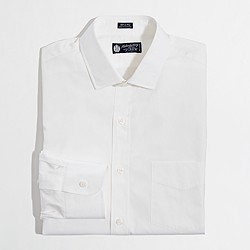 Factory spread-collar dress shirt