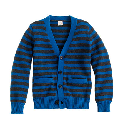 Boys' stripe cotton cardigan