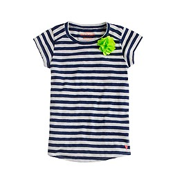 Girls' supersoft carnation tee in stripe