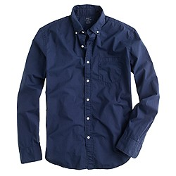 Slim lightweight garment-dyed shirt