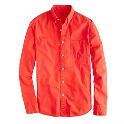 Lightweight garment-dyed shirt