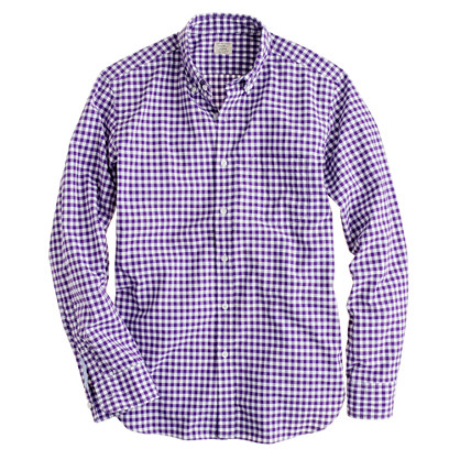 Slim Secret Wash shirt in medium gingham
