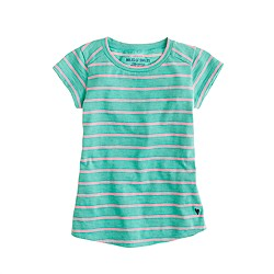 Girls' pink stripe tee