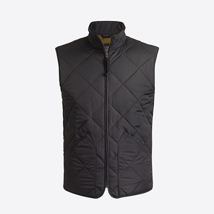 Factory quilted layering vest