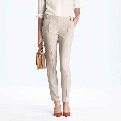 New élan trouser in wool crepe