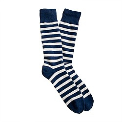 Tri-color stripe socks