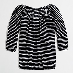 Factory stripe gauze blouse