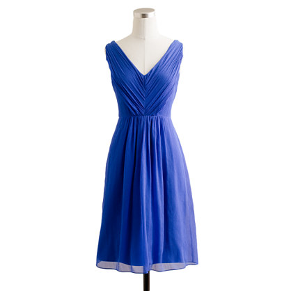 Petite Louisa dress in silk chiffon