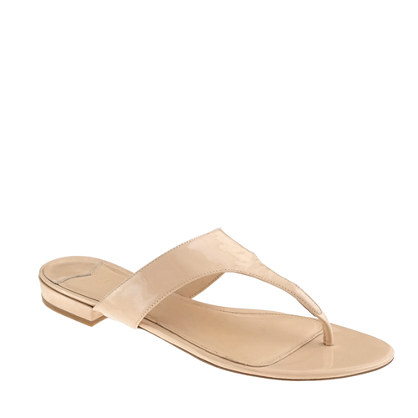 Tybee patent slide sandals