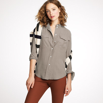 Silk Elodie blouse   blouses   Womens shirts & tops   J.Crew