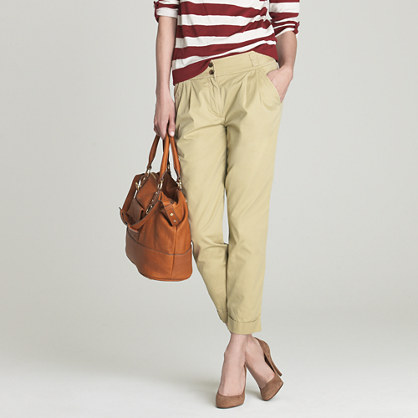 Model Tall BrokenIn Boyfriend Chino  Women39s Chino Pants  JCrew