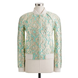 Collection gilded brocade bomber jacket