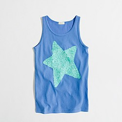 Factory girls' sequin star tank