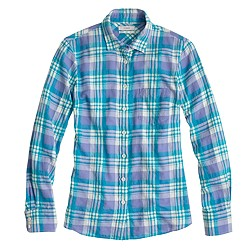 Boy shirt in peri plaid