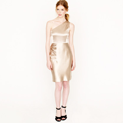 Nanine dress in silk satin