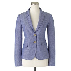 Schoolboy blazer in crosshatch linen