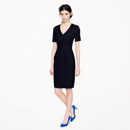 Petite memo dress in Super 120s