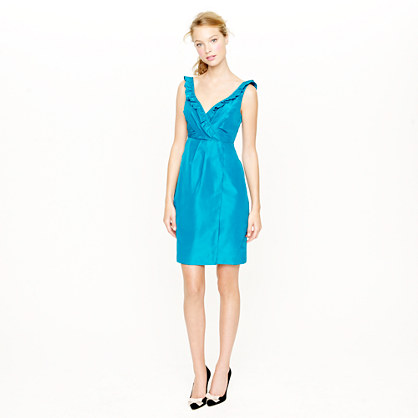 Petite elyse dress in silk taffeta