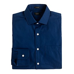 Ludlow spread-collar shirt in midnight poplin