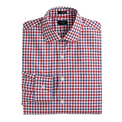 Ludlow spread-collar shirt in bi-color gingham