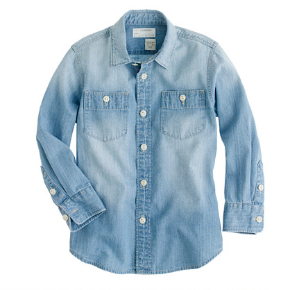 Boys' vintage chambray workshirt