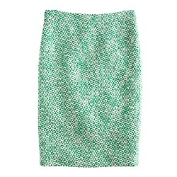 No. 2 pencil skirt in clover tweed