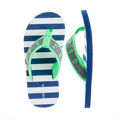 Kids' anchor flip-flops