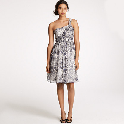 Lucienne dress in printed silk chiffon