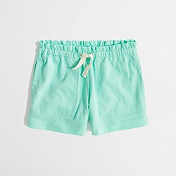 Factory girls' knit short