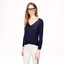 Lightweight merino V-neck sweater