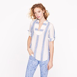 Stripe linen tunic