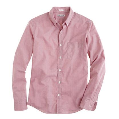 Thomas Mason For J Crew Slim Shirt In Green Microgingham