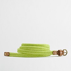 Factory skinny fishtail braid belt