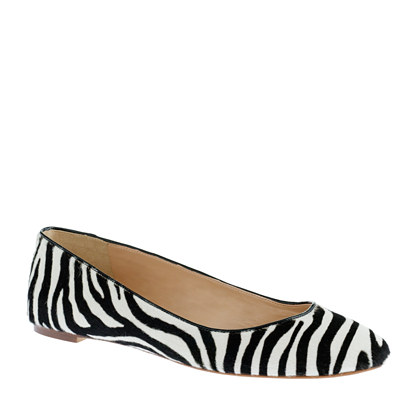 Collection Nora calf hair ballet flats