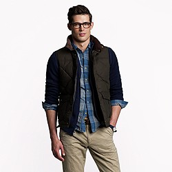Barbour® down waxed quilted gilet