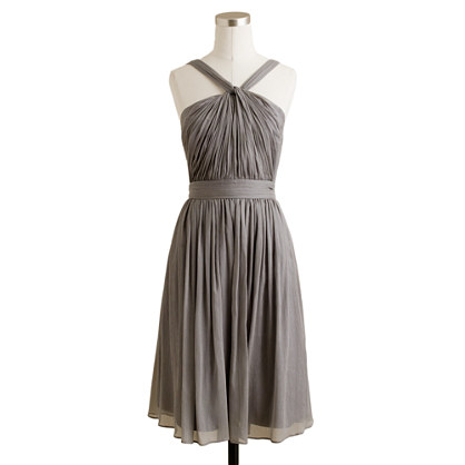 Petite Sinclair dress in silk chiffon