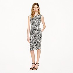 Collection leopard tweed dress