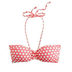 D-cup graphic dot padded bandeau top